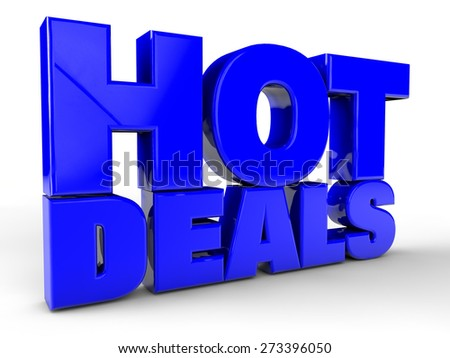Hot Deals over white Background - stock photo