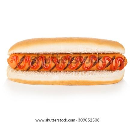 Hot dog isolated - stock photo