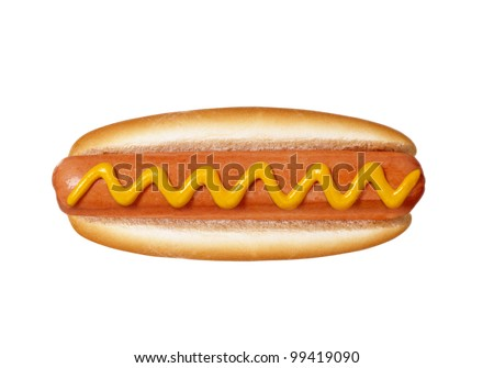 hot dog on white background