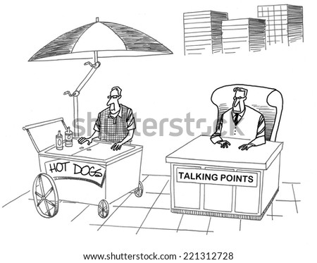 Hot Dogs.  Talking Points. - stock photo