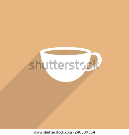 hot drink cup web flat icon illustration.