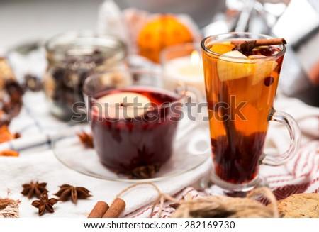 hot drinks - stock photo