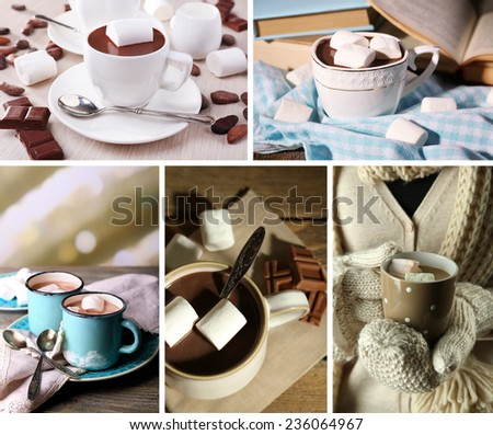 Hot drinks collage