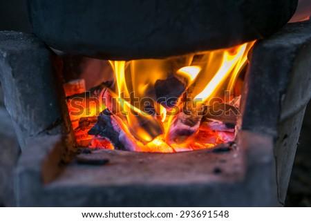 Hot Fire - stock photo