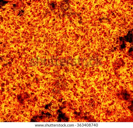 hot fire coal lava texture background. grained texture - stock photo