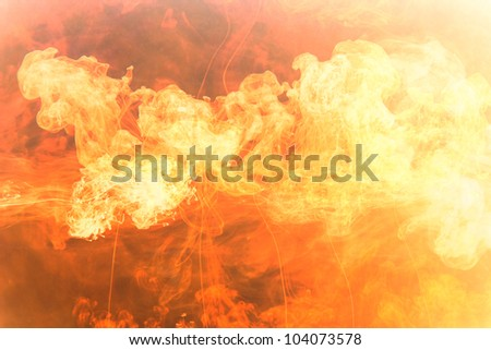 hot fire flame background image - stock photo
