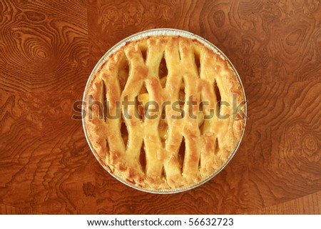 """Hot fresh baked apple pie, just like """"Mom"""" makes.   various views - stock photo"""