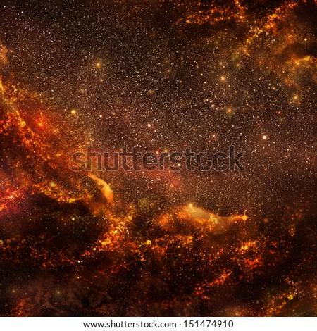 Hot galaxy (inside view) - stock photo