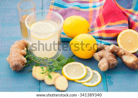 Hot ginger tea - stock photo