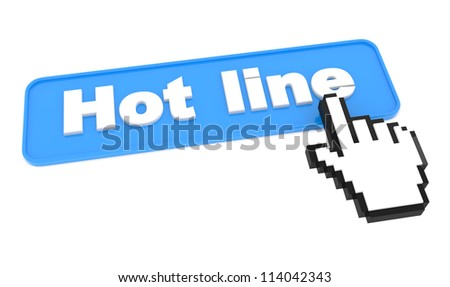 Hot Line - Web Blue Button with Cursor on It.