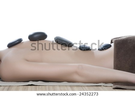 Hot Mineral Sacred Stone Treatment - stock photo