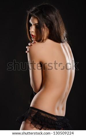 Hot model in lingerie - stock photo
