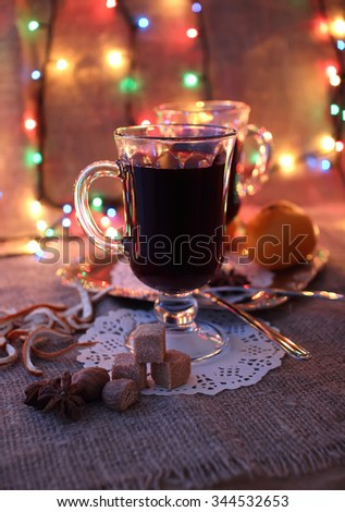 Hot mulled wine for two one evening.
