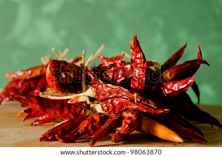 hot peppers - stock photo