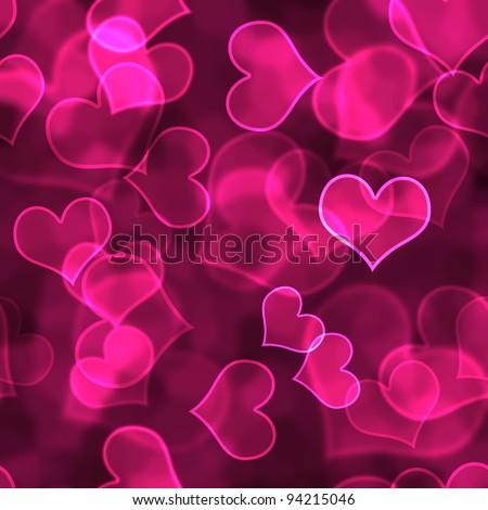 Hot Pink Heart Background Wallpaper - stock photo