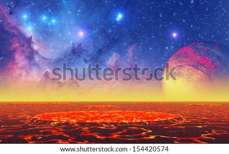 """Hot Planet - """"Elements of this image furnished by NASA"""" - stock photo"""