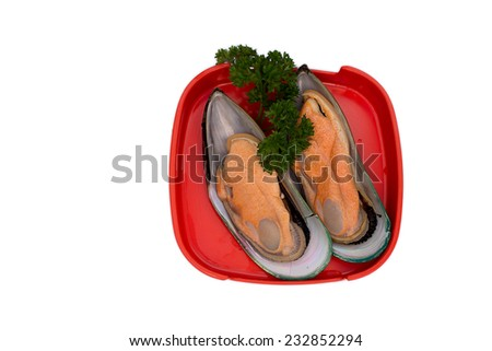 Hot pot ingredients - Oysters - Selective focus point - stock photo
