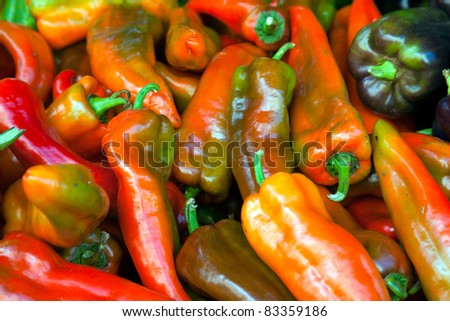 Hot Red Chillies on sale in a market