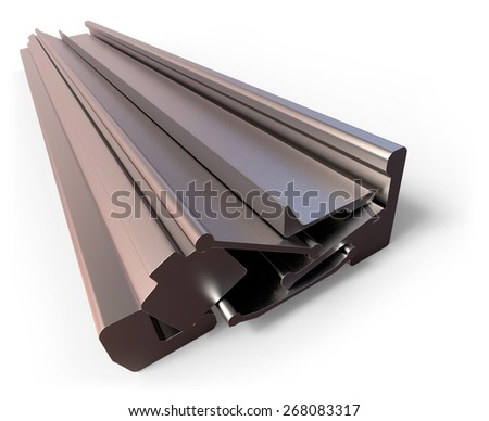 Hot rolled steel isolated on white
