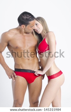 hot sexy couple - stock photo