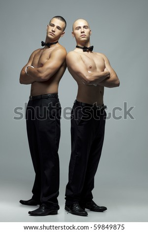 hot sexy men - stock photo