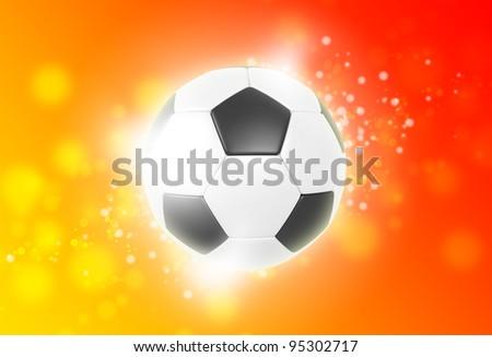 Hot soccer ball - stock photo