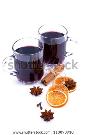 Hot spiced wine - stock photo