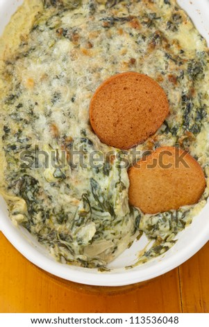 Hot Spinach Dip - stock photo
