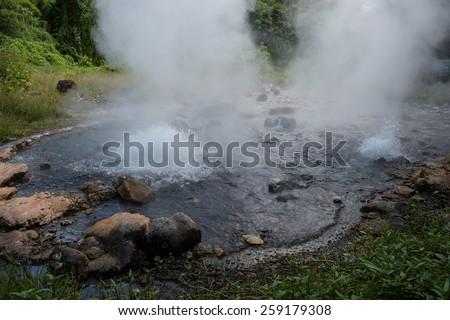 hot spring detail at Chiang mai, Thailand - stock photo