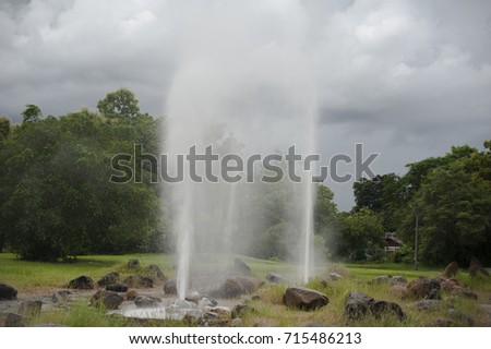 Hot spring fountain at San Kampang district, Chiang Mai, Thailand