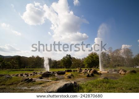Hot Springs - stock photo