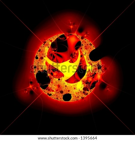 Hot star - stock photo