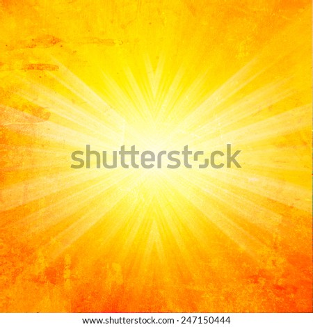 Hot summer background with grunge style effect. - stock photo