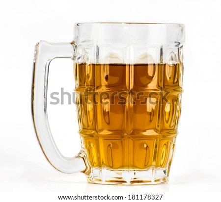 Hot tea in glass on white-gray background