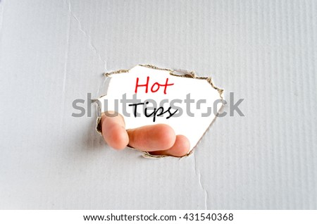Hot tips text concept isolated over white background - stock photo