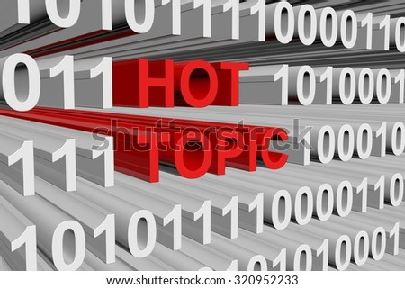 hot topic is presented in the form of binary code
