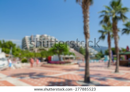 hotel area buildings abstract blur background