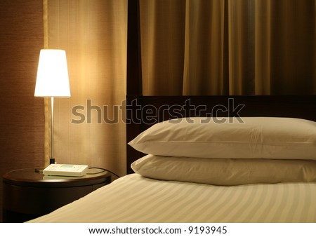 Hotel Bed & Night Table