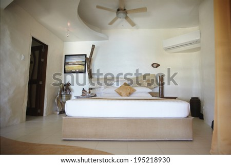 Hotel bedroom in the Philippines