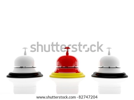 Hotel bells (3d render) - stock photo