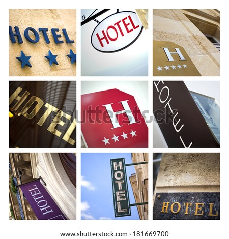 Hotel collage - stock photo