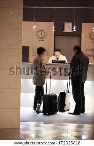 Hotel Concierge - stock photo