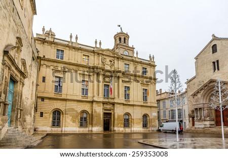 Hotel de Ville (Town Hall) of Arles - France, Provence-Alpes-Cote d'Azur - stock photo