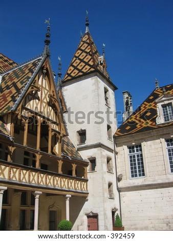 Hotel Dieu, Beaune, France. - stock photo