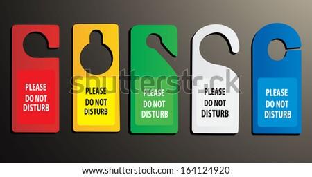 hotel do not disturb door hanger - stock photo