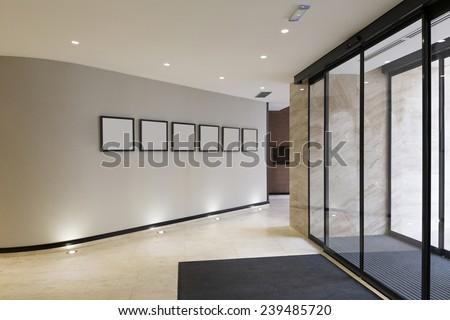 Hotel entrance - stock photo