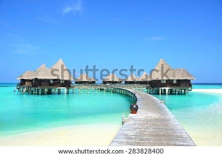 hotel in Paradise - stock photo