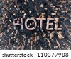 Hotel in the city - tourism background - - stock photo