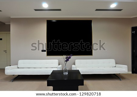 Hotel lobby interior - stock photo
