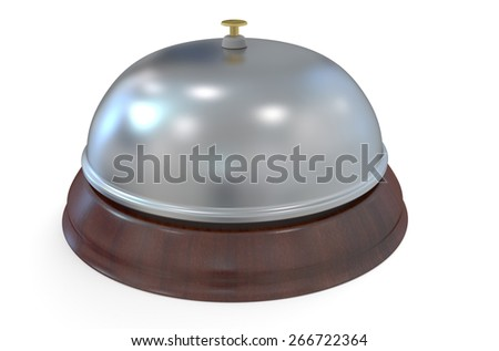 Hotel reception bell isolated on white background - stock photo